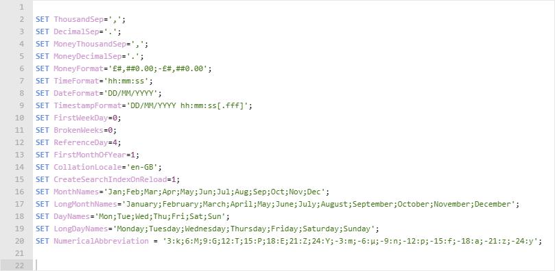 Qlik App Configuration
