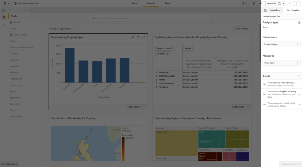 Qlik Sense September 2019 - Qlik Insight Advisor