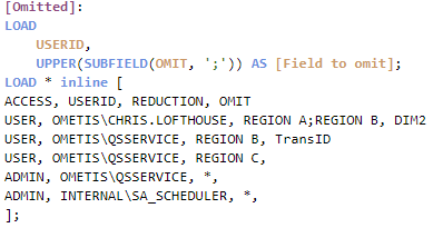 calculated conditions omitted fields