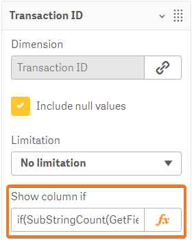 Dynamic Table transaction ID