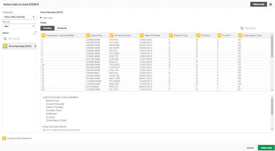 data load interface Qlik DataTransfer