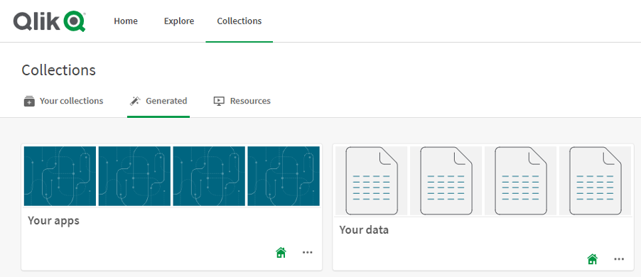 Data Catalog Qlik Sense SaaS - Navigation Option 2